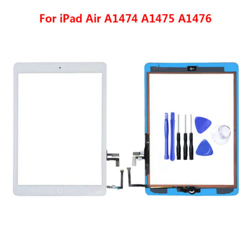 For Apple iPad Air Tablet Touch Screen Panel Digitizer w//Home Button Repair+Tool
