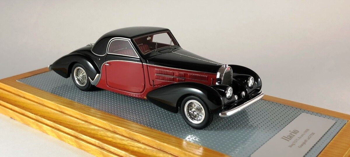ILARIO 43120 - Bugatti T57SC Aravis Cabriolet Gangloff Graber 1939 sn57798  1/43