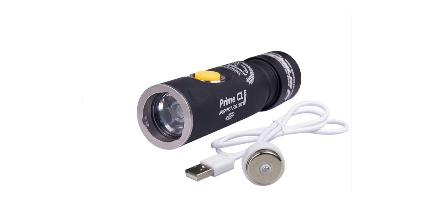 ArmyTek Prime C1 1050Lumens Rechargeable Flashlight w Magnetic USB Charger WHITE