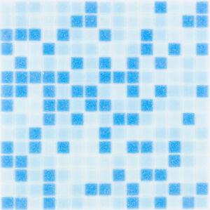 Glasmosaik Fliesen Hellblau Blau Wand Dusche Bad Fliesenspiegel 1