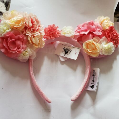 Disney Parks Light Pink Flower and Garden Minnie Ears Headband