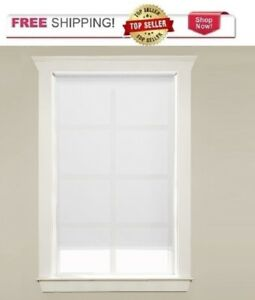 "White Light Filtering Vinyl Roller Shade 22"" W - 37 1/4"" W x 72"" L"