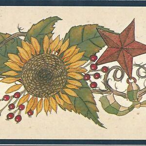 Golden-Sunflower-Tin-Star-Wallpaper-Border-LOT-60-feet-FREE-SHIPPING-can-A446