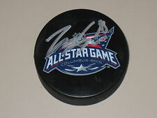 Zemgus Girgensons #28 signed 2015 NHL All Star Hockey Puck COA Buffalo Sabres