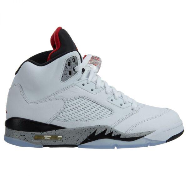 official photos 7b694 6a827 Air Jordan 5 V Retro White Cement University Red Black 136027-104 Size 11  for sale online   eBay