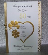 Personalised Wedding Anniversary Card Golden 50th/Silver 25th/Diamond/Ruby
