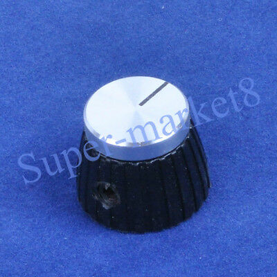 "50PC Marshal Plexi JTM JMP Guitar Tube Amp Control Knob W/ Silver Top 1/4"" Black"