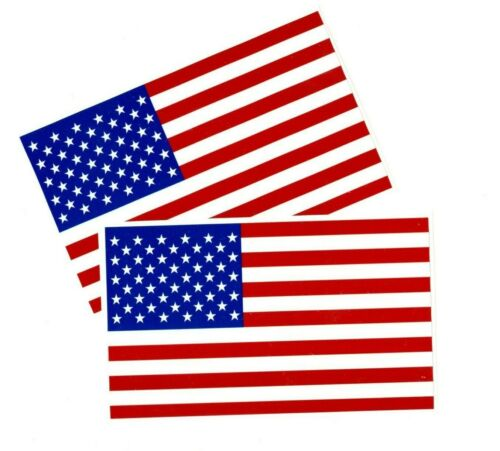 """2 American Flag Decals Stickers 4.5/"""" x 8/"""""""