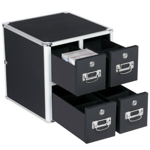 Office Four Drawer Cd Storage Cabinet Organizer Documents Cd