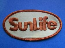 Vintage 1980's Sun Life Financial Insurance Jacket Hat Employee Patch Crest