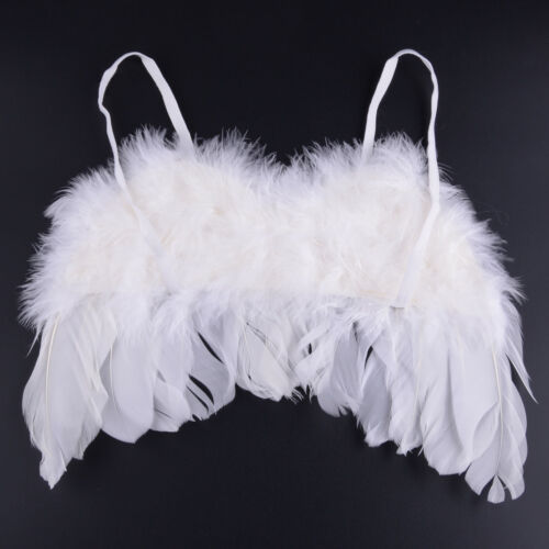 Baby Engel Flügel Weiß Lorbeerkranz Fotoshooting Newborn Neugeborenen Fotografie
