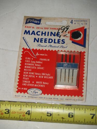NOS Prym set of 4 Sewing Machine Needles #11 to 18-for Singer-Pfaff-White-etc