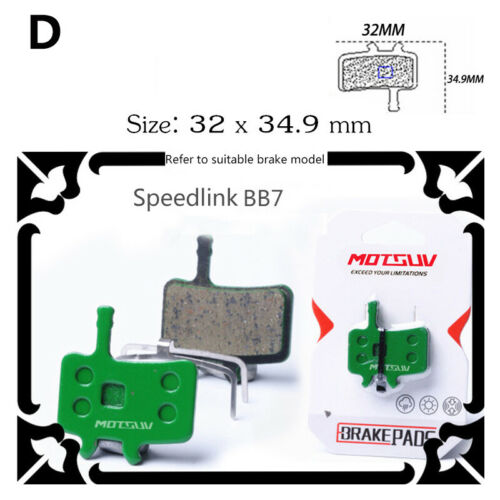 Bike Brake Pads Cycle,Bicycle Disc Brake Pads Ceramics Accessories Compatible2PC