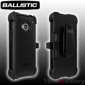 huge discount 4a16c 668bf Details about GENUINE Ballistic SG MAXX Case for HTC One M7 801 Black Tough  Corners +Belt Clip