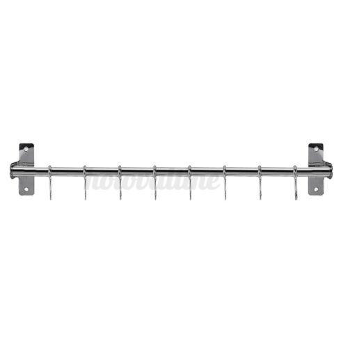 Steel Wall Mounted Holder Hanger Storage Holder Rack Strip Utensil Kitchen Tool