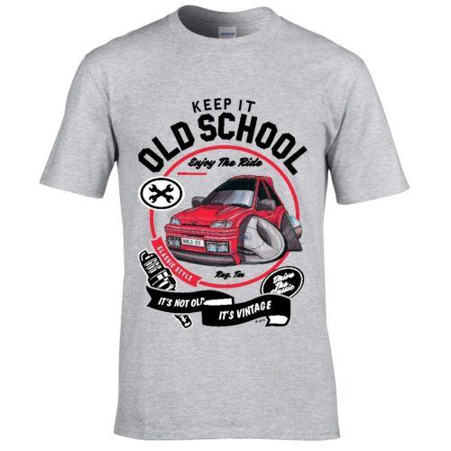 Koolart Keep it old school Retro Mk3 Fiesta RS turbo car motif mens t-shirt gift