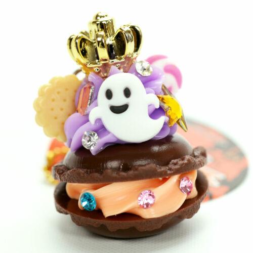 Halloween Macaroon Keychain Ghost Skull Cake Dessert Kawaii Japanese Food Charm