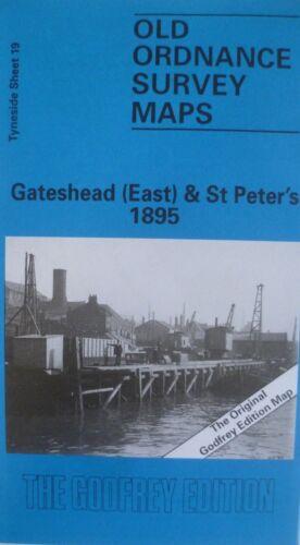 Old Ordnance Survey Map Gateshead East /& St Peter/'s Tyneside 1895 Sheet 19 New