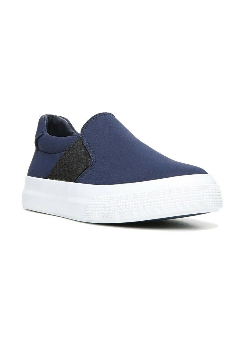 Nouveau  250 Vince Minuit Bleu Plat Sportif Chaussures Torin Slip-On Baskets 7.5 m