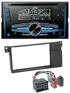 JVC-MP3-USB-CD-2DIN-AUX-Autoradio-fuer-BMW-3er-E46-Rundpin-grossem-Navi