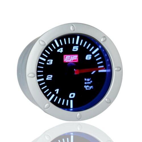 2Inch 52mm Car Smoke Oil Pressure Gauges Meters White Led Displayed Dail 0~7psi