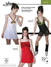 Jalie Empire Waist Figure Skating Dress w/Attached Leotard Sewing Pattern # 2674