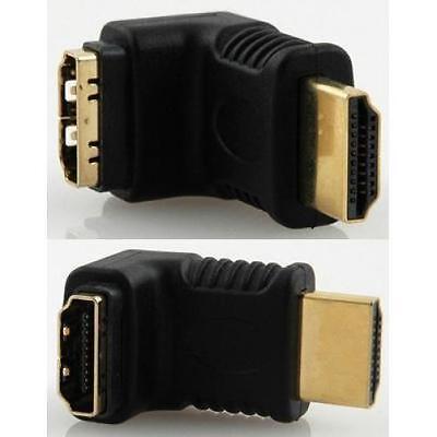 Lloytron A513 90 Degree HDMI Adaptor Male Female HD Lead Connector Plug Black