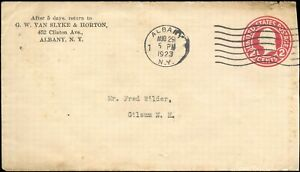 1923 USA TOBACCO ADVERTISING COVER ALBANY, NEW YORK-LISBON,OHIO tied with 2c .