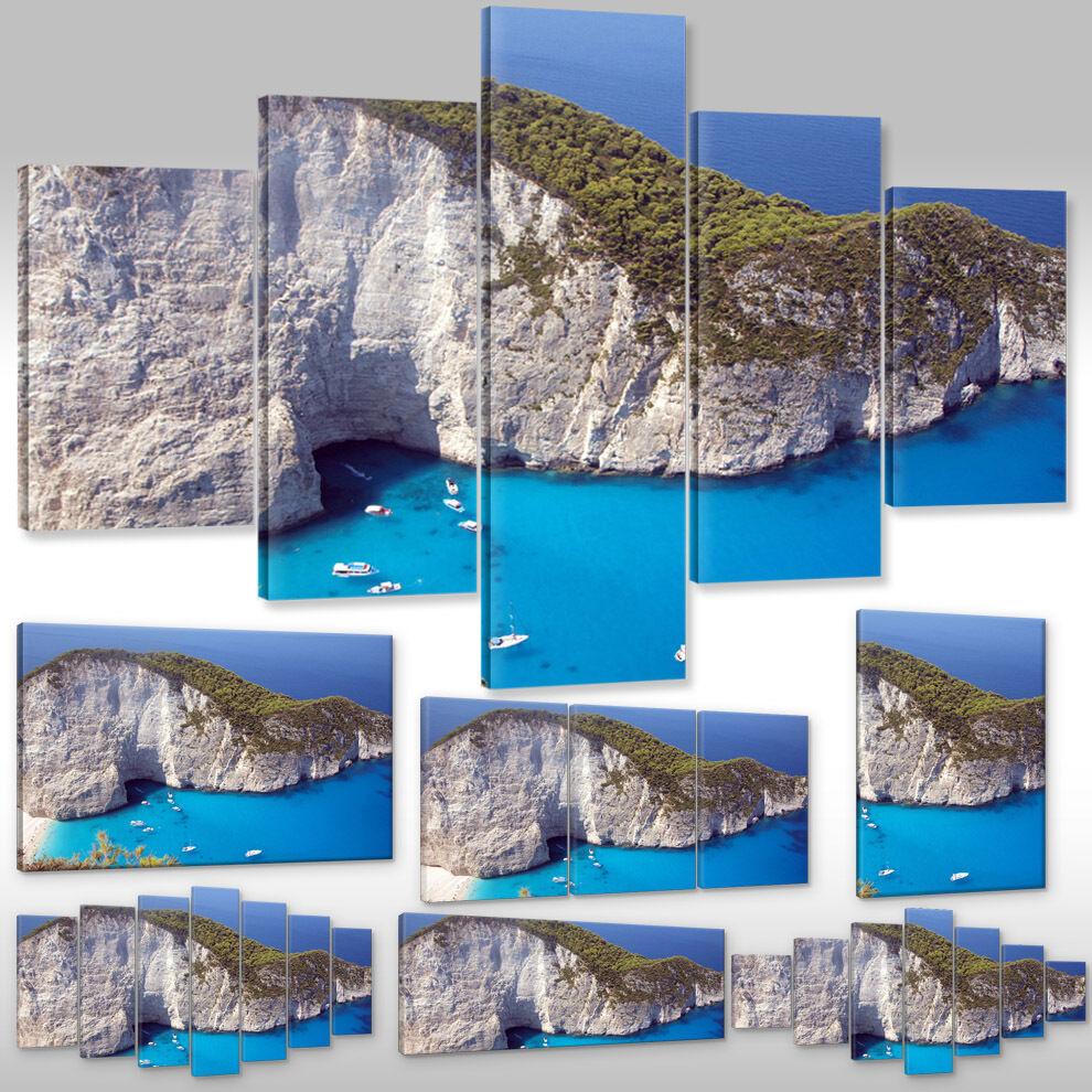Quadro su Tel Tela Poster Fotografia Arte Natura Paesaggio Grecia Zakynthos