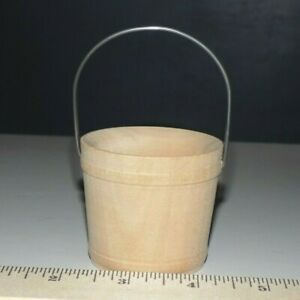 Bucket-New-Raw-Unfinished-Wood-Craft-2-1-16-034-Made-in-USA