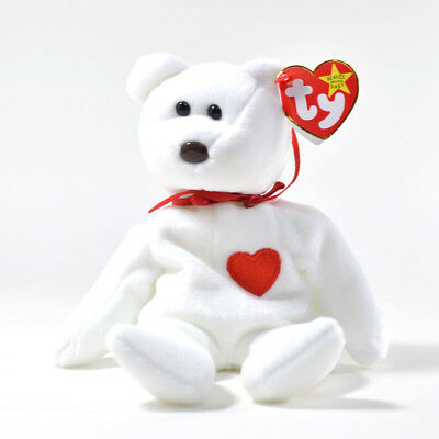 1994 MWMT 1998 Ty Beanie Baby Valentino the Bear DOB February 14