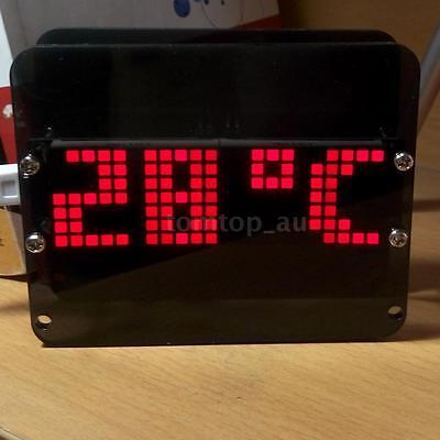 DS3231 Dot Matrix LED Clock Kit Electronic Digital Alarm Clock Time Display C7WG