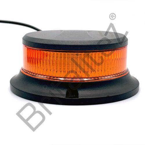 ECE R65, R10 12V//24V Low Profile Beacon Strobe Magnetic Mount