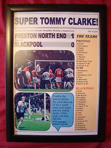 Preston NORTH End 1 Blackpool 0 - 2013 capitale una tazza-incorniciato stampa