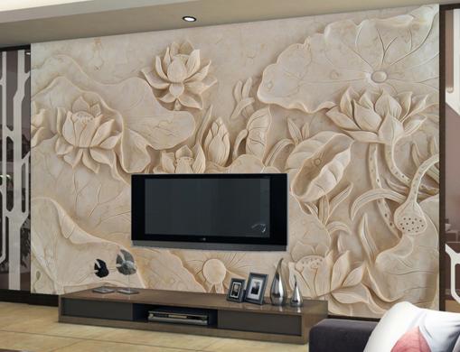 3D Wood Farbe Lotus 7 Wall Paper Murals Wall Print Wall Wallpaper Mural AU Kyra