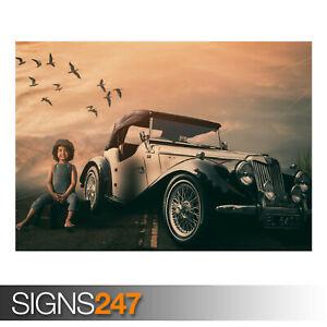 CLASSIC-CAR-ROAD-AE903-Photo-Picture-Poster-Print-Art-A0-A1-A2-A3-A4