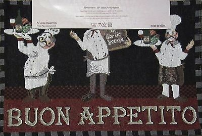 Fat Chef Buon Appetito Set of 4 Tapestry Placemats