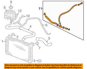 s l300 hummer gm oem 03 07 h2 6 0l v8 radiator hose 15058002 ebay