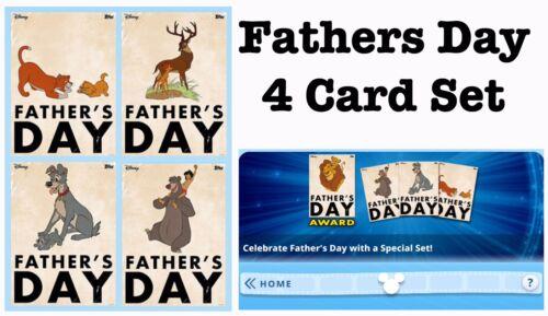 Padres día 4 Juego de Tarjetas-Topps Disney recoger Digital