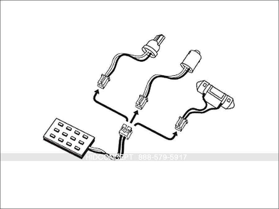 12v 35w 55w Wiring Harness Controller
