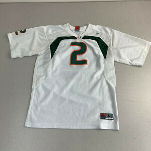 Rare-Vintage-University-of-Miami-Hurricanes-Football-Nike-Jersey-Youth-Large-2