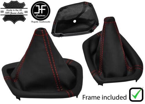 Red Stitch Nappa cuir Gear Gaiter Cadre en plastique pour Dodge Challenger 15-19