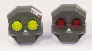 LEGO-2-x-Totenkopf-Stein-1x4x3-dunkelgrau-mit-Diamanten-Augen-47990-NEUWARE
