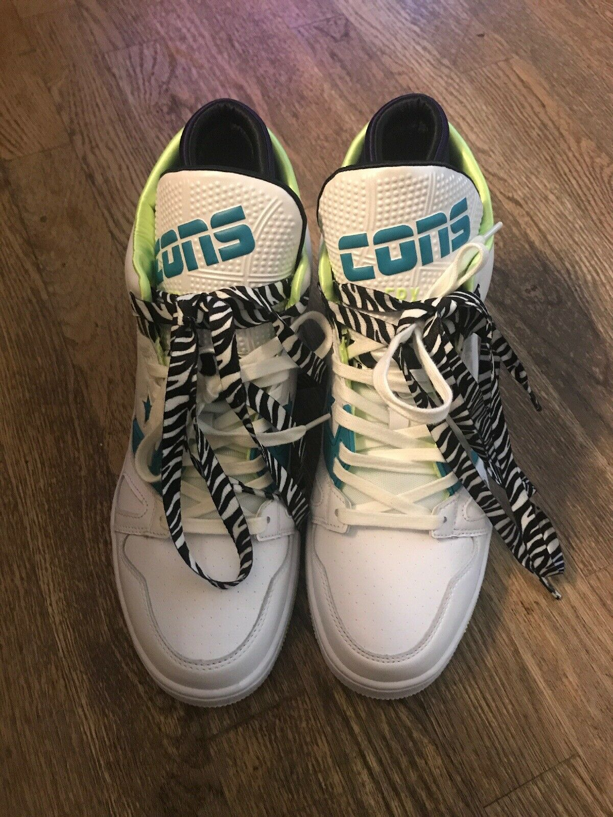 NEW MEN'S Converse CONS- ERX-260 RETRO Basketball shoes LEATHER ZEBRA SIZE 9