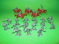 Marx Classic Recast 25 Western Cowboys Plastic Figures Set In Baggie Nice