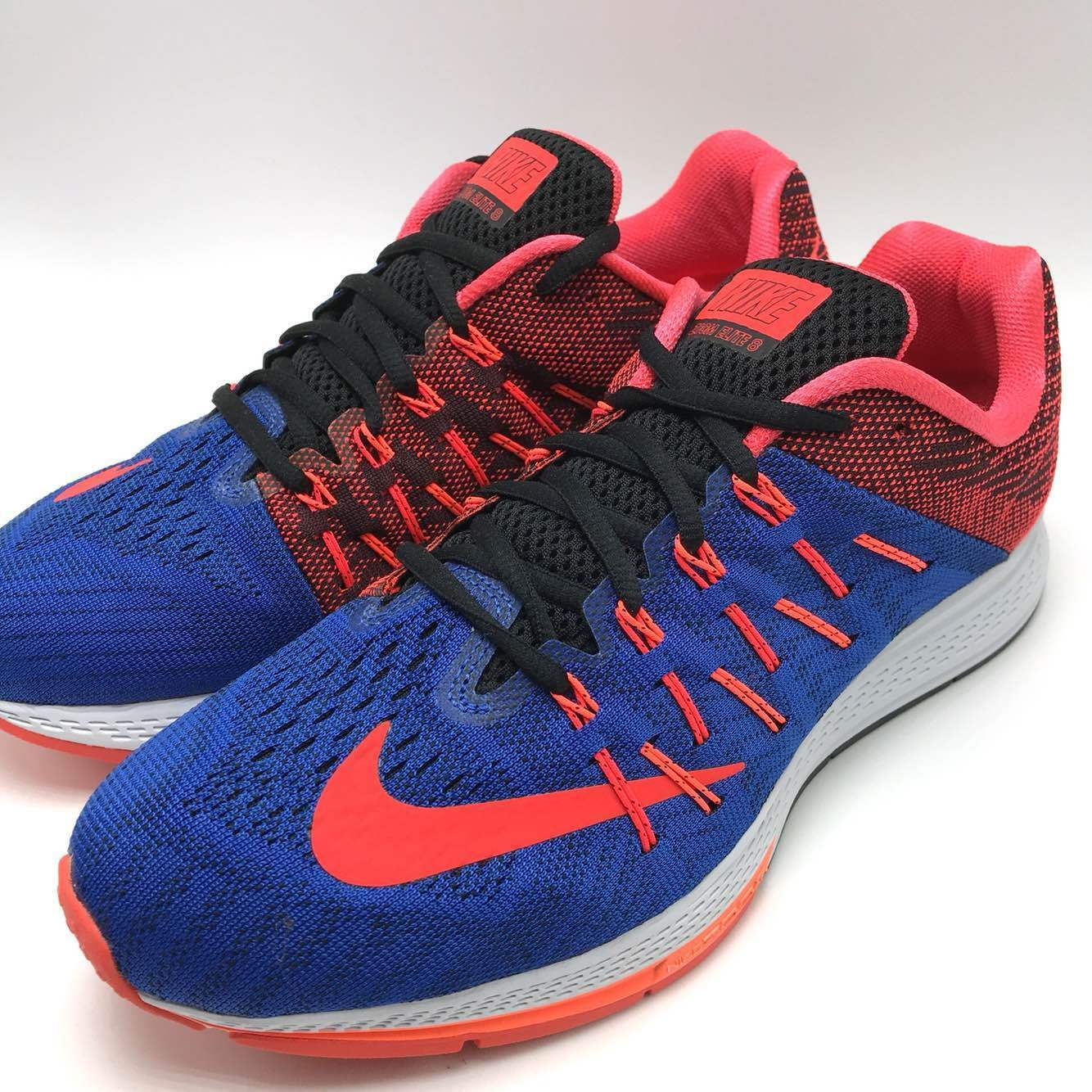 cheap for discount 63d61 2f124 Nike Air Zoom Elite 8 8 8 Blue Crimson Black Men s Running Trainer Shoes  748588-400 58a3a3