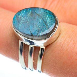 Labradorite-925-Sterling-Silver-Ring-Size-8-Ana-Co-Jewelry-R46865F
