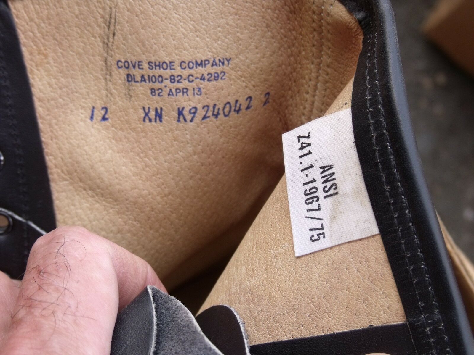 Steel Toe US ARMY Safety Stivali Pelle Work Non Non Non Slip Fuel Resistant NEW 4fc694