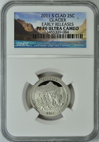 2011-S GLACIER CLAD QUARTER 25c EARLY RELEASES NGC PF70 ULTRA CAMEO