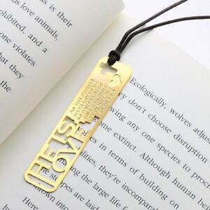 He-is-our-LOVE-Christian-Bible-18k-GP-Bookmark-with-Leather-String-for-Gift